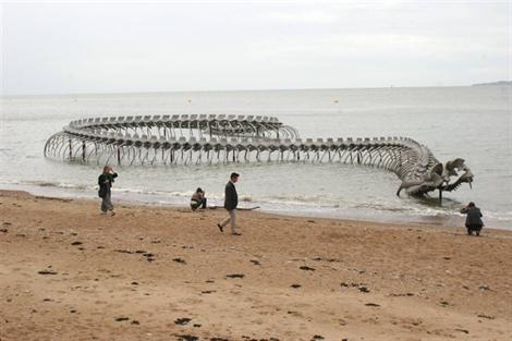 cryptozoologie,sculpture,serpent-de-mer,Bernard Heuvelmans,Oudemans,Saint-Brévin-Les Pins, Aluminium, ophidien, serpent de l'océan, cryptozoology,